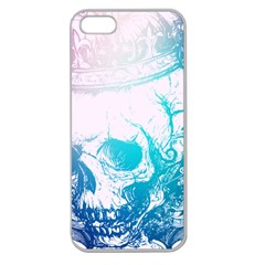Skull King Colors Apple Seamless Iphone 5 Case (clear) by TheTalkingDead