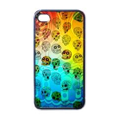 Sugary Skulls Apple Iphone 4 Case (black) by TheTalkingDead