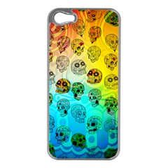 Sugary Skulls Apple Iphone 5 Case (silver) by TheTalkingDead
