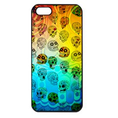 Sugary Skulls Apple Iphone 5 Seamless Case (black) by TheTalkingDead