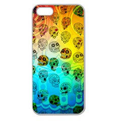 Sugary Skulls Apple Seamless iPhone 5 Case (Clear) by TheTalkingDead