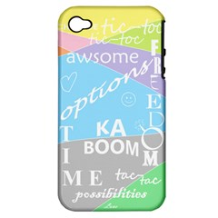 Oh Write Apple Iphone 4/4s Hardshell Case (pc+silicone) by Contest1719785