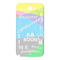 oh write Samsung Note 2 N7100 Hardshell Back Case by Contest1719785