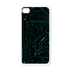 Circuit Board Apple Iphone 4 Case (white) by TheTalkingDead