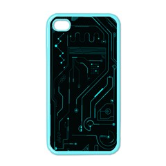 Circuit Board Apple Iphone 4 Case (color) by TheTalkingDead