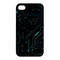 Circuit Board Apple Iphone 4/4s Premium Hardshell Case by TheTalkingDead