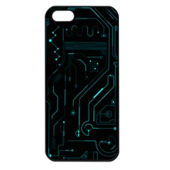 Circuit Board Apple Iphone 5 Seamless Case (black) by TheTalkingDead