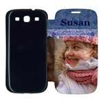 Blue Frill Samsung Galaxy S3 Flip Cover Case