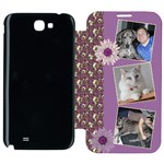 Purple Samsung Galaxy Note 2 Flip cover Case