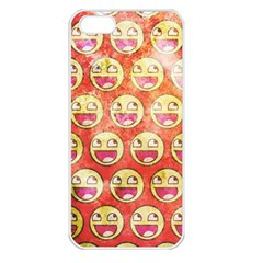 Epic Face Apple Iphone 5 Seamless Case (white) by Contest1775858