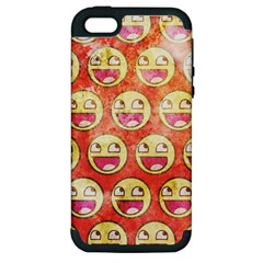 Epic Face Apple Iphone 5 Hardshell Case (pc+silicone) by Contest1775858