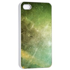 Green Grunge Apple Iphone 4/4s Seamless Case (white) by Contest1775858