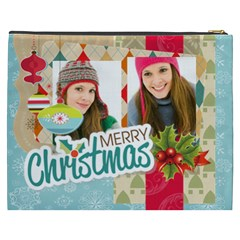 Merry Christmas By Merry Christmas   Cosmetic Bag (xxxl)   858ulu7wtc75   Www Artscow Com Back