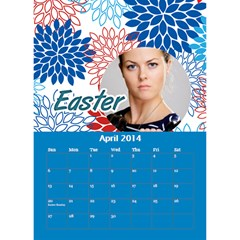 Calendar By C1   Desktop Calendar 6  X 8 5    Oa25tgz9e5ik   Www Artscow Com Apr 2014