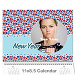 calendar - Wall Calendar 11  x 8.5  (12-Months)