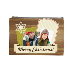 Merry Christmas By Merry Christmas   Cosmetic Bag (large)   59wr43xte22p   Www Artscow Com Front