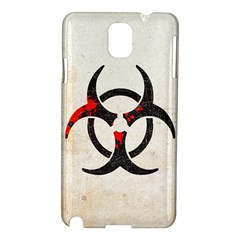 Biohazard Symbol Samsung Galaxy Note 3 N9005 Hardshell Case by Contest1775858
