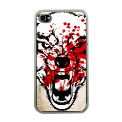 Blood Wolf Apple iPhone 4 Case (Clear) by Contest1775858