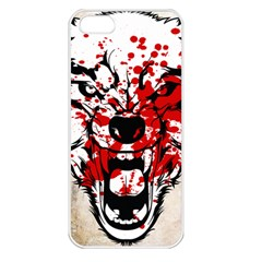Blood Wolf Apple Iphone 5 Seamless Case (white) by Contest1775858