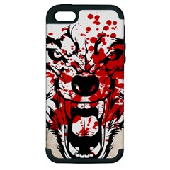 Blood Wolf Apple iPhone 5 Hardshell Case (PC+Silicone) by Contest1775858