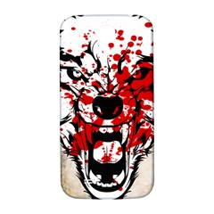 Blood Wolf Samsung Galaxy S4 I9500/i9505  Hardshell Back Case by Contest1775858