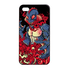 Creature Apple iPhone 4/4s Seamless Case (Black) by Contest1775858