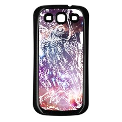 Cosmic Owl Samsung Galaxy S3 Back Case (Black) by Contest1775858