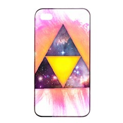 Cosmic Triple Triangles Apple Iphone 4/4s Seamless Case (black) by Contest1775858