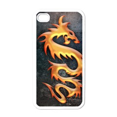 Golden Tribal Dragon Apple Iphone 4 Case (white) by Contest1775858