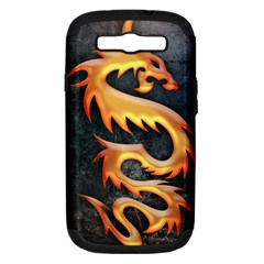 Golden Tribal Dragon Samsung Galaxy S Iii Hardshell Case (pc+silicone)