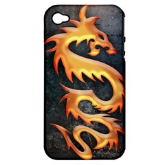 Golden Tribal Dragon Apple Iphone 4/4s Hardshell Case (pc+silicone) by Contest1775858