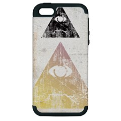 All seeing eye Apple iPhone 5 Hardshell Case (PC+Silicone) by Contest1775858