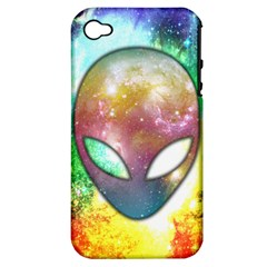 Space Alien Apple iPhone 4/4S Hardshell Case (PC+Silicone) by Contest1775858