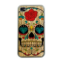 Sugar Skull Apple Iphone 4 Case (clear) by Contest1775858
