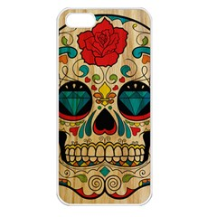 Sugar Skull Apple Iphone 5 Seamless Case (white) by Contest1775858
