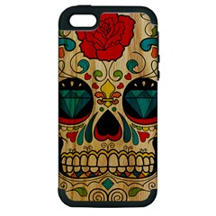 Sugar Skull Apple iPhone 5 Hardshell Case (PC+Silicone) by Contest1775858