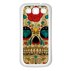 Sugar Skull Samsung Galaxy S3 Back Case (white) by Contest1775858