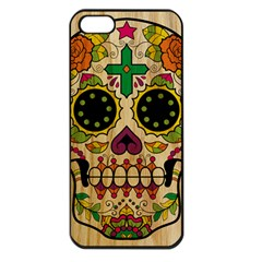 Sugar Skull Apple Iphone 5 Seamless Case (black) by Contest1775858