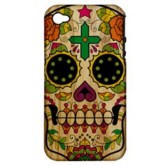 Sugar Skull Apple Iphone 4/4s Hardshell Case (pc+silicone) by Contest1775858