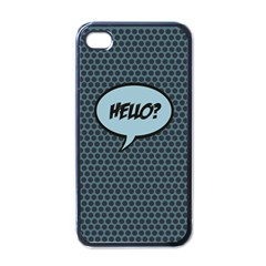 Hello Apple Iphone 4 Case (black) by PaolAllen2
