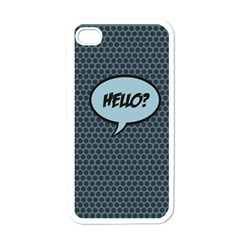 Hello Apple Iphone 4 Case (white) by PaolAllen2
