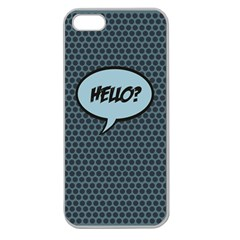 Hello Apple Seamless Iphone 5 Case (clear) by PaolAllen2