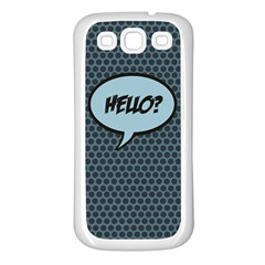 Hello Samsung Galaxy S3 Back Case (white) by PaolAllen2