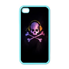 Rock Out With Your Skull Out    Apple Iphone 4 Case (color) by TheTalkingDead