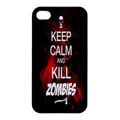 Keep Calm & Kill Zombies Apple iPhone 4/4S Hardshell Case by TheTalkingDead