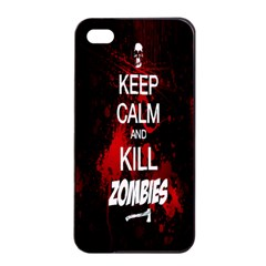 Keep Calm & Kill Zombies Apple Iphone 4/4s Seamless Case (black) by TheTalkingDead