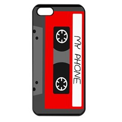Cassette Phone Apple Iphone 5 Seamless Case (black) by TheTalkingDead