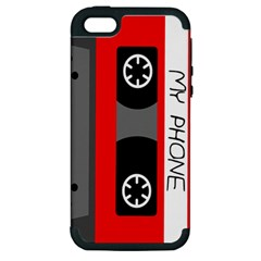 Cassette Phone Apple iPhone 5 Hardshell Case (PC+Silicone) by TheTalkingDead