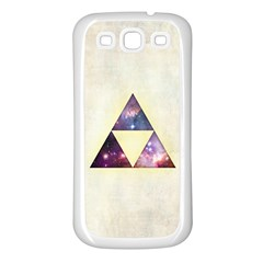 Cosmic Triangles Samsung Galaxy S3 Back Case (white) by Contest1775858