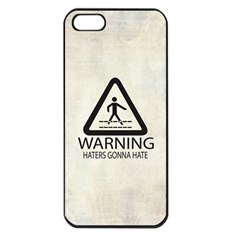 Warning: Haters Gonna Hate Apple Iphone 5 Seamless Case (black) by Contest1775858
